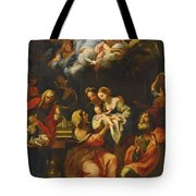The Birth Of The Virgin Tote Bag