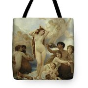The Birth Of Venus Tote Bag by William-Adolphe Bouguereau