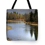 The Bitterroot River Montana Tote Bag