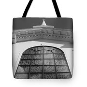 The Black And White Church Tote Bag
