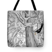 The Blackbird And The Worm Tote Bag