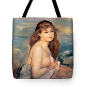 The Blonde Bather Tote Bag