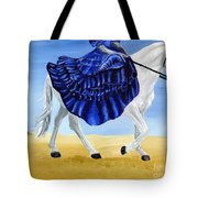 The Blue And The White - Princess Starliyah Riding Candis Tote Bag