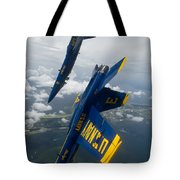 The Blue Angels Over Pensacola Beach Tote Bag