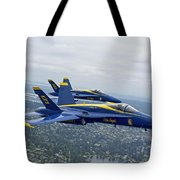 The Blue Angels Over Seattle Tote Bag