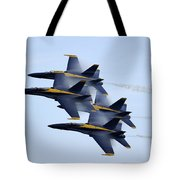 the Blue Angels perform a Diamond 360 Tote Bag