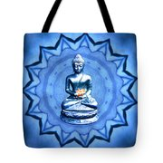 The Blue Buddha Meditation Tote Bag