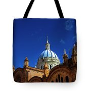 The Blue Domes Of Cuenca, Ecuador Tote Bag