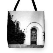 The Blue Door B And W Tote Bag