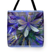 The Blue Flowers Of Melanie  Tote Bag