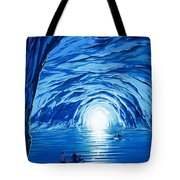 The Blue Grotto In Capri By Mcbride Angus  Tote Bag by Angus McBride