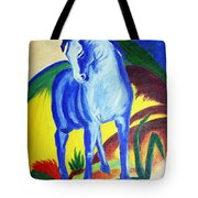 The Blue Horse Franc Marz Tote Bag