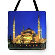 The Blue Mosque At Night Istanbul Turkey Tote Bag