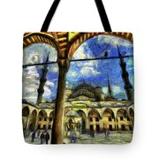 The Blue Mosque Istanbul Art Tote Bag