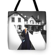 The Blue Of War At The Cottage Tote Bag