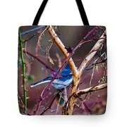 The Blue Of Winter In The Woods Tote Bag