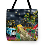 The Blue Trailer Tote Bag