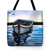The Blue Wooden Boat Tote Bag