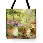 The Bluebell Glade Tote Bag by Ernest Walbourn