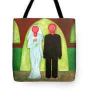 The Blushing Bride And Groom Tote Bag