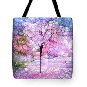 The Blushing Tree In Bloom Tote Bag