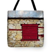 The Boarded Red Window Tote Bag