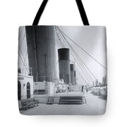 The Boat Deck Of The Titanic Tote Bag