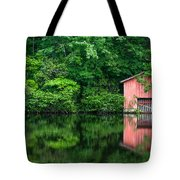 The Boat House At Desoto Falls Tote Bag