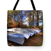 The Boats At Woodcraft Camp Tote Bag