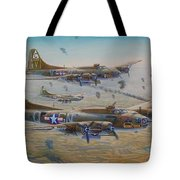 The Bomb Run Over Schwienfurt Tote Bag