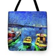 The Bosphorus Istanbul Art Tote Bag