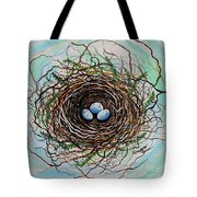The Botanical Bird Nest Tote Bag