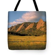 The Boulder Flatirons Tote Bag