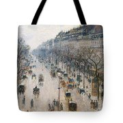 The Boulevard Montmartre On A Winter Morning, 1897  Tote Bag