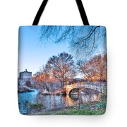 The Bow Bridge In Central Park Tote Bag