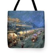 The Bowery At Night Tote Bag