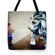 The Boy And The Lion 10 Tote Bag