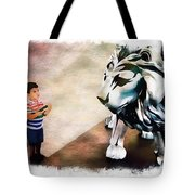 The Boy And The Lion 9 Tote Bag