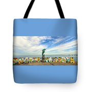 The Boy On The Seahorse Pano Tote Bag