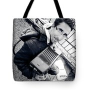 The Brave Accordion Player Tote Bag