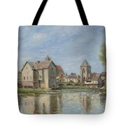 The Bridge And Mills Of Moret Sur Loing Tote Bag