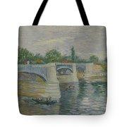 The Bridge At Courbevoie Paris, May - July 1887 Vincent Van Gogh 1853  1890 Tote Bag