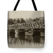 The Bridge At Washingtons Crossing Tote Bag by Bill Cannon