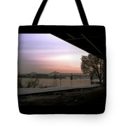 The Bridge From Under Louisville Tote Bag