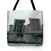 The Bridge Of Lions Open For Boats Tote Bag