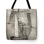 The Brig Hms Beagle From Journal Of Tote Bag
