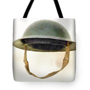 The British Brodie Helmet  Tote Bag by Steve Taylor