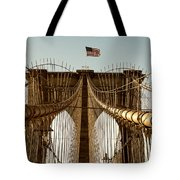 The Brooklyn Bridge Flag Tote Bag