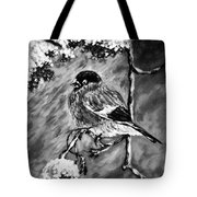 The Bullfinch Black And White Tote Bag