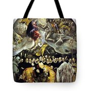 The Burial Of The Count Of Orgaz 1587 Tote Bag